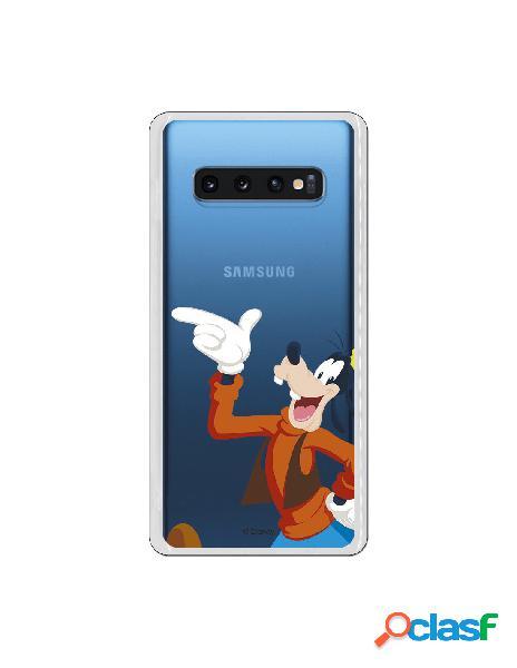Funda Disney Goofy clear para Samsung Galaxy S10 Plus