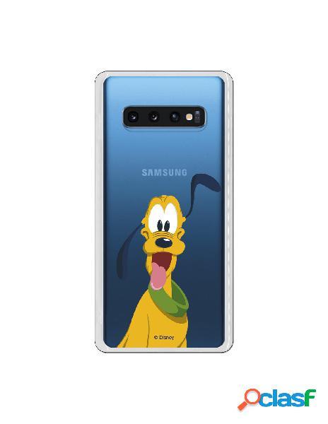 Funda Disney Pluto clear para Samsung Galaxy S10 Plus
