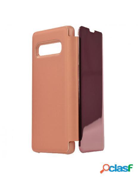 Funda Espejo Funda libro Rosa para Samsung Galaxy S10