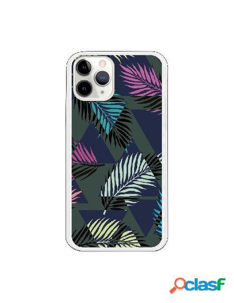 Funda Flores colores con fondo negro para iPhone 11 Pro