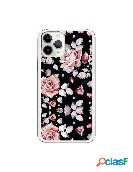 Funda Flores fondo negro para iPhone 11 Pro