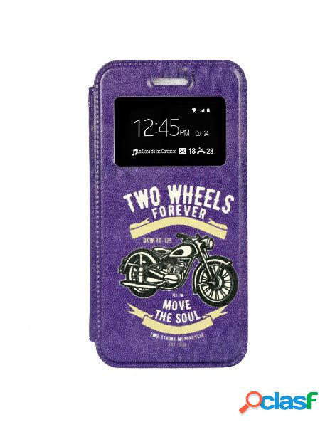 Funda Libro Two Wheels para iPhone SE