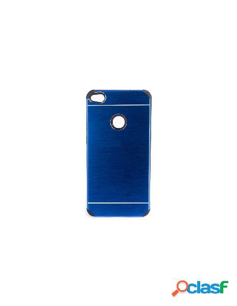 Funda Metalizada Doble Azul Huawei P8 Lite 2017