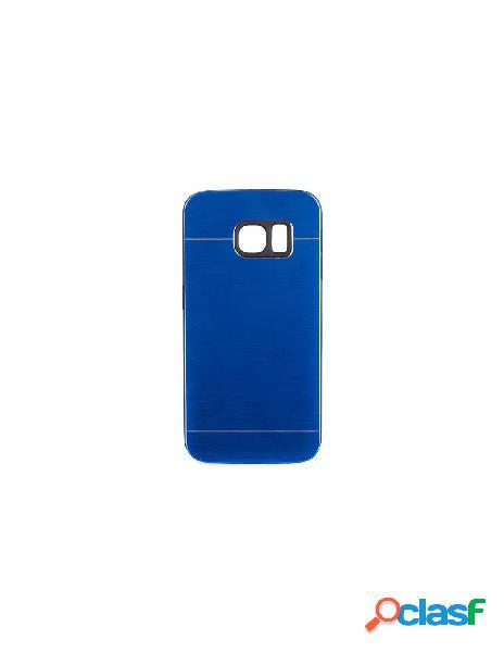 Funda Metalizada Doble Azul Samsung Galaxy S6 Edge