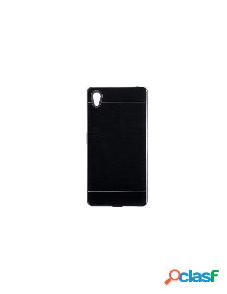 Funda Metalizada Doble Negro Sony Xperia Z5