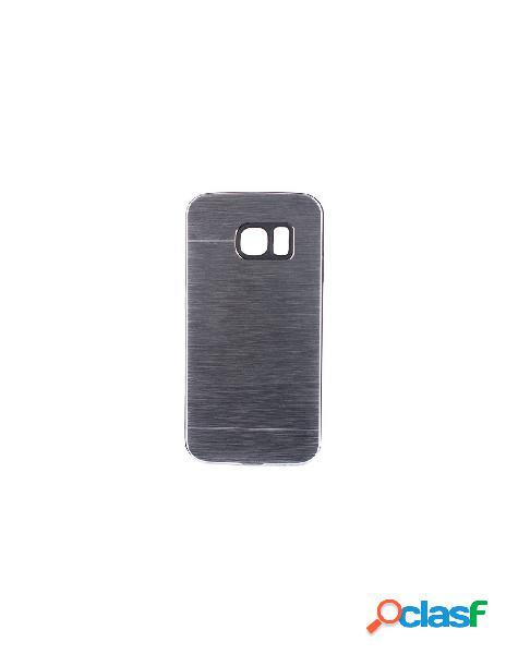 Funda Metalizada Doble Plata Samsung Galaxy S6 Edge