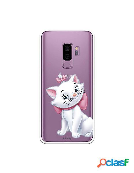 Funda Oficial Disney Marie Silueta transparente para Samsung