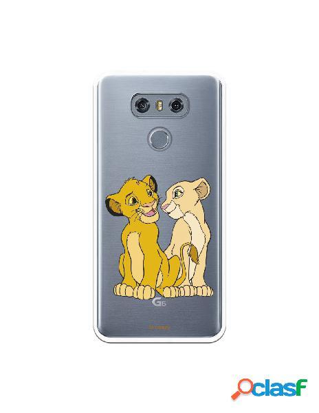 Funda Oficial Disney Simba y Nala transparente para LG G6 -