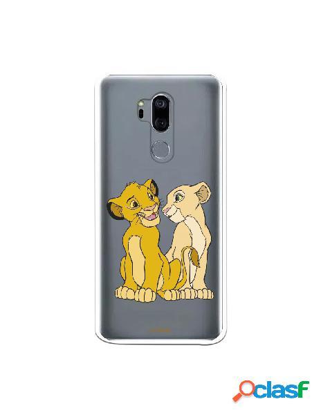 Funda Oficial Disney Simba y Nala transparente para LG G7 -