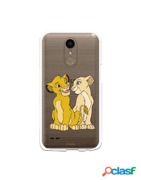 Funda Oficial Disney Simba y Nala transparente para LG K10