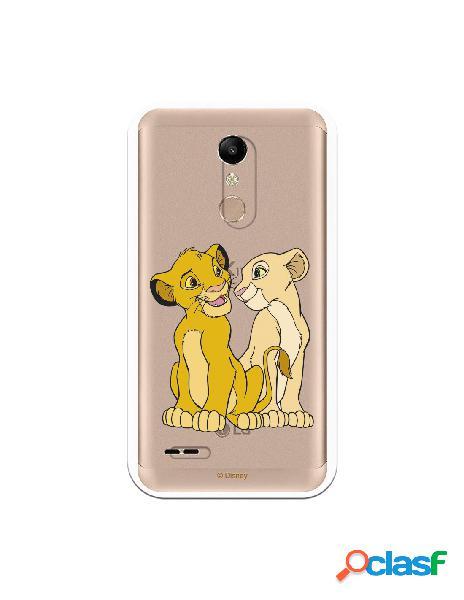 Funda Oficial Disney Simba y Nala transparente para LG K11 -