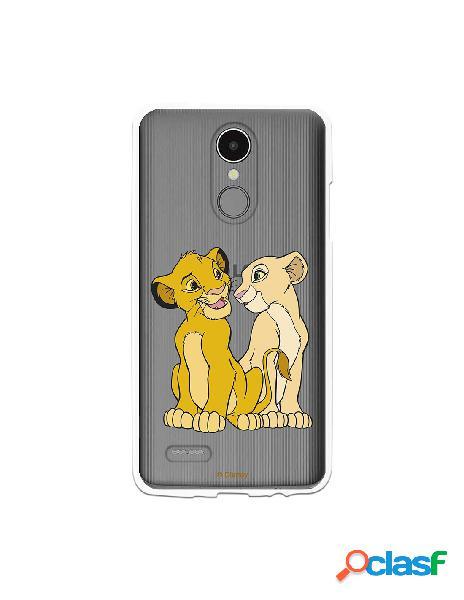 Funda Oficial Disney Simba y Nala transparente para LG K4