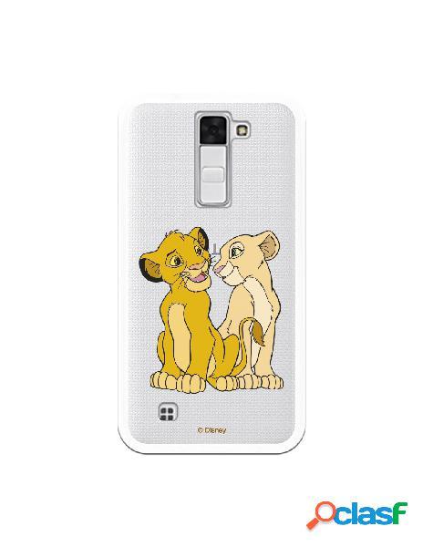Funda Oficial Disney Simba y Nala transparente para LG K8