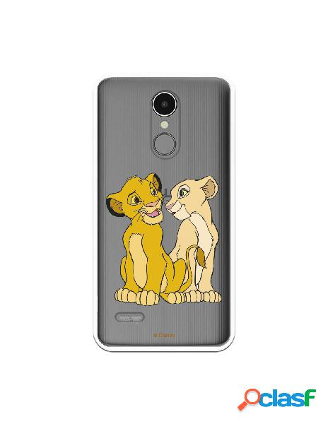 Funda Oficial Disney Simba y Nala transparente para LG K9