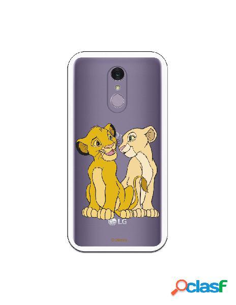 Funda Oficial Disney Simba y Nala transparente para LG Q7 -