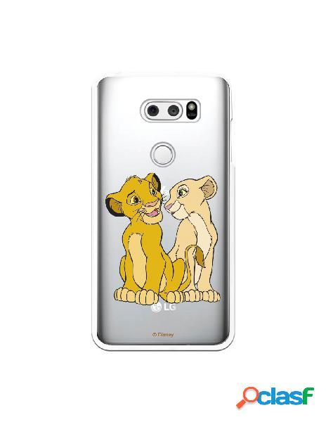 Funda Oficial Disney Simba y Nala transparente para LG V30S
