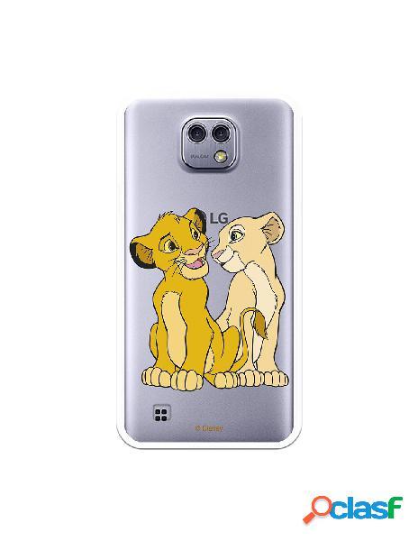 Funda Oficial Disney Simba y Nala transparente para LG X Cam