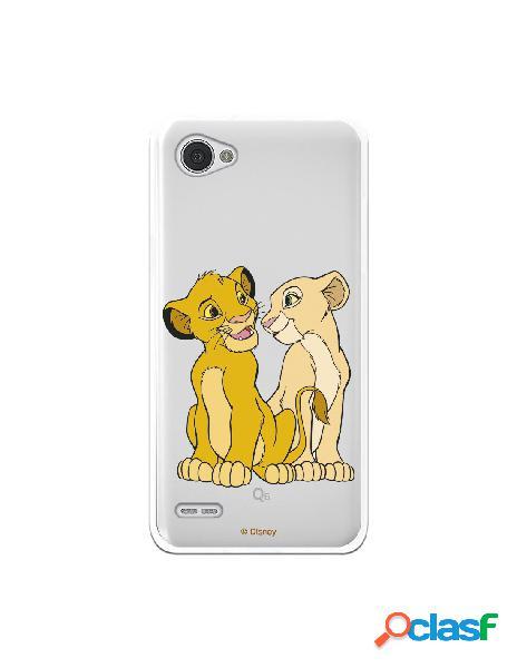 Funda Oficial Disney Simba y Nala transparente para Lg Q6 -