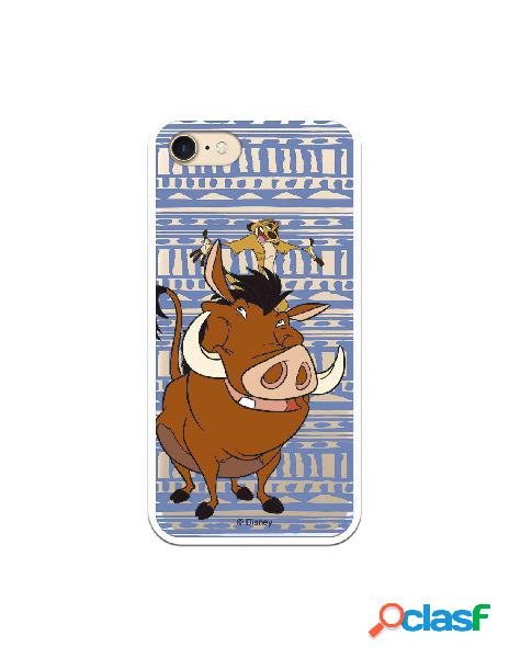 Funda Oficial Disney Timon y Pumba Transparente para iPhone