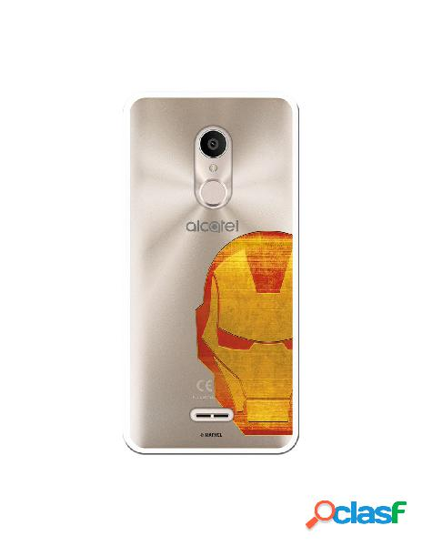 Funda Oficial Iron Man Clear para Alcatel 3C