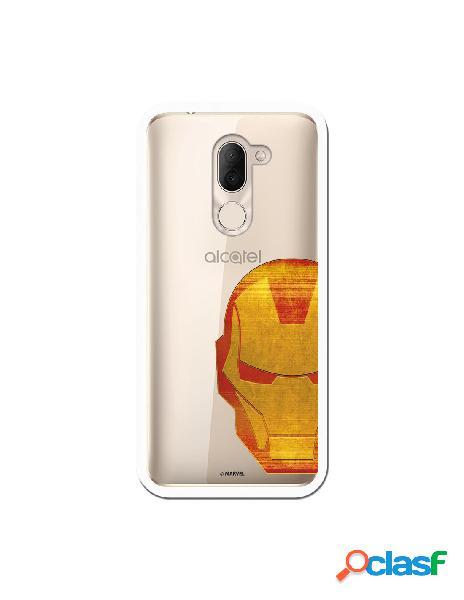 Funda Oficial Iron Man Clear para Alcatel 3X