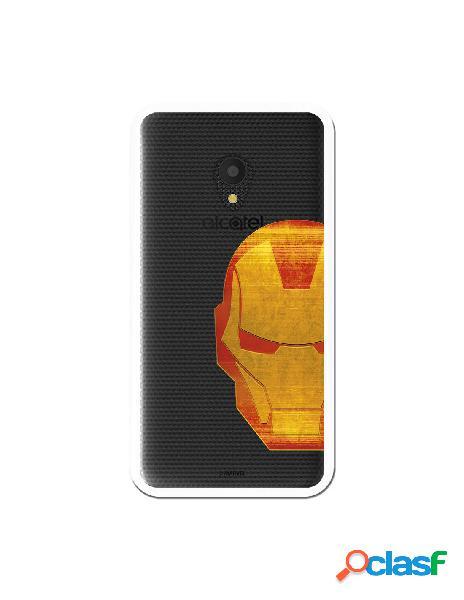 Funda Oficial Iron Man Clear para Alcatel U5 4G
