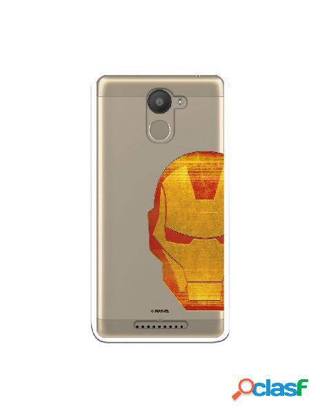 Funda Oficial Iron Man Clear para Bq Aquaris U Plus