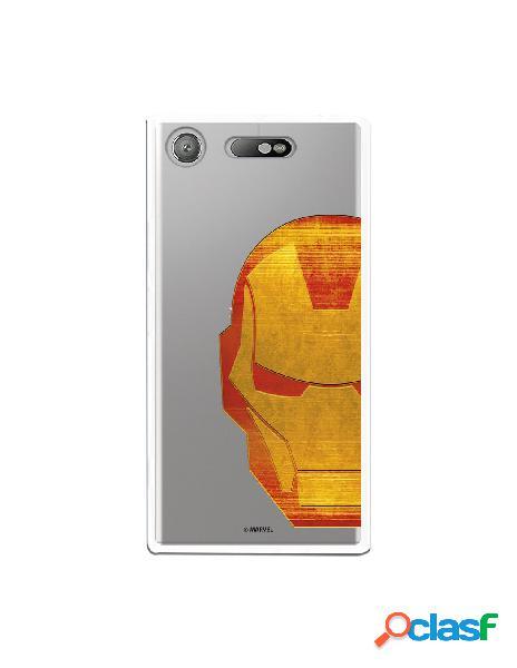 Funda Oficial Iron Man Clear para Sony Xperia XZ1