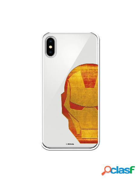 Funda Oficial Iron Man Clear para iPhone X