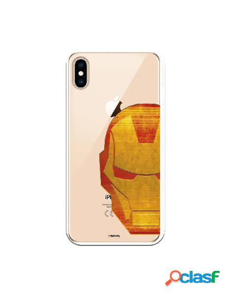 Funda Oficial Iron Man Clear para iPhone XS Max