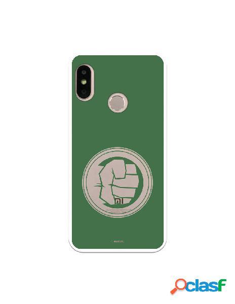 Funda Oficial The Hulk Fondo Verde para Xiaomi Mi A2 Lite