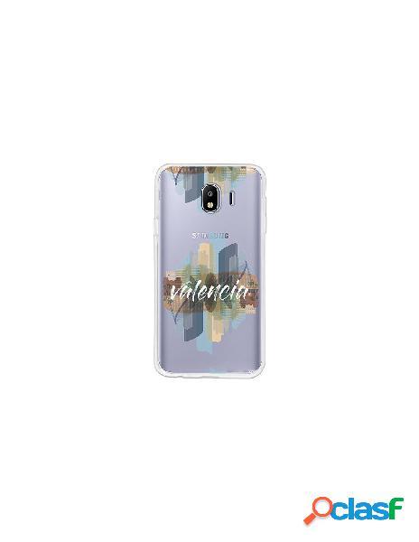 Funda Oficial Valencia letras blancas Samsung Galaxy J4 2018