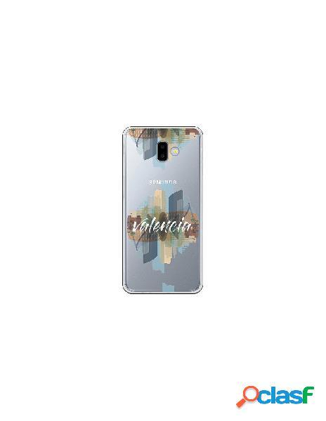Funda Oficial Valencia letras blancas Samsung Galaxy J6 Plus
