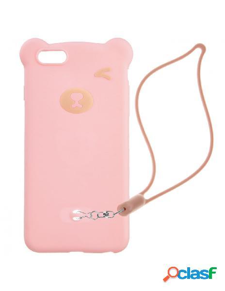 Funda Oso Rosa 3D para iPhone 6 Plus