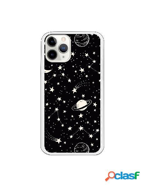 Funda Planetas fondo negro para iPhone 11 Pro