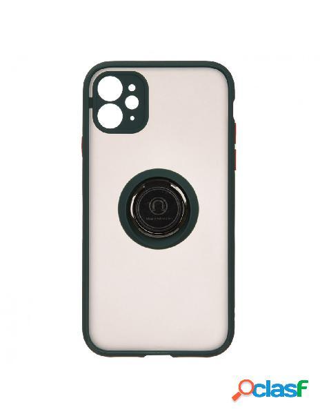 Funda Ring Transparente Verde para iPhone 11 Pro