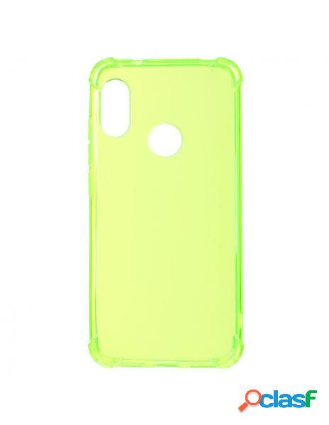 Funda Silicona transparente Fluorescente Verde para Xiaomi