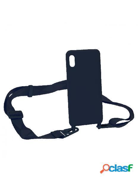 Funda Ultra Suave Lanyard Azul para iPhone XS Max