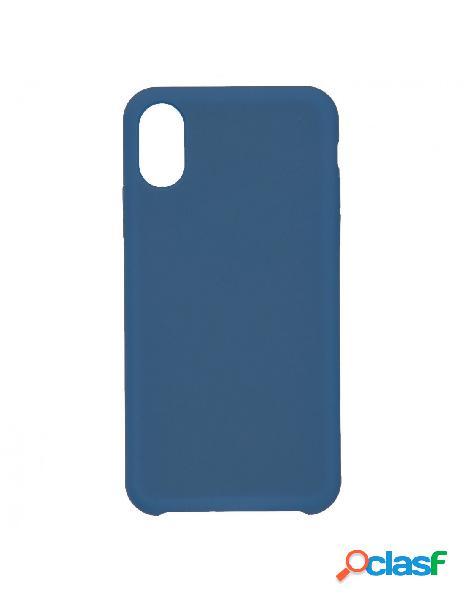 Funda Ultra suave Azul Marino para iPhone X