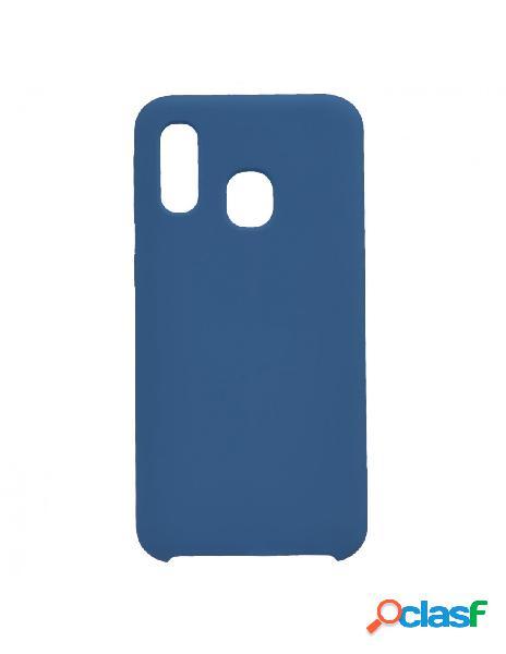Funda Ultra suave Logo Azul Marino para Samsung Galaxy A40