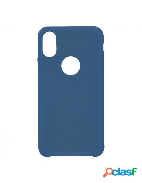 Funda Ultra suave Logo Azul Marino para iPhone XS