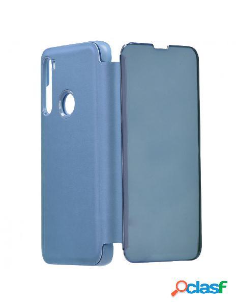 Funda libro Espejo Azul para Xiaomi Redmi Note 8