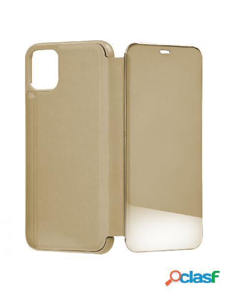 Funda libro Espejo Oro para iPhone 11