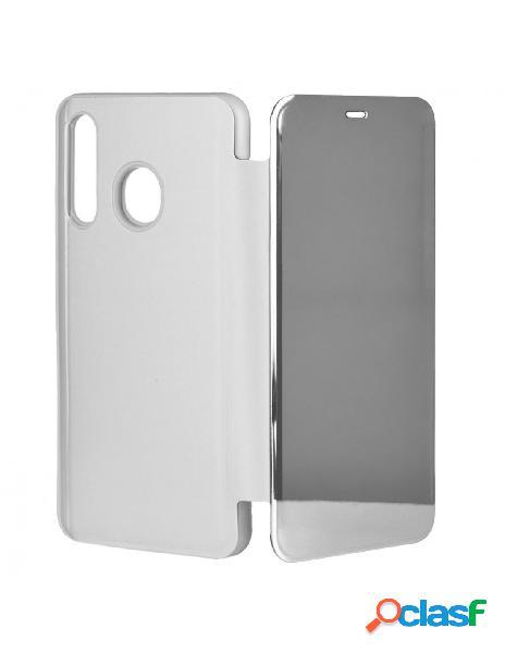 Funda libro Espejo Plata para Samsung Galaxy A50