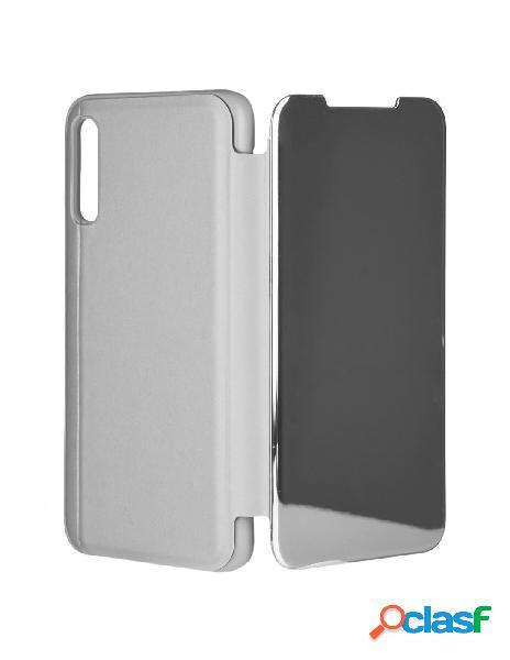 Funda libro Espejo Plata para Samsung Galaxy A70