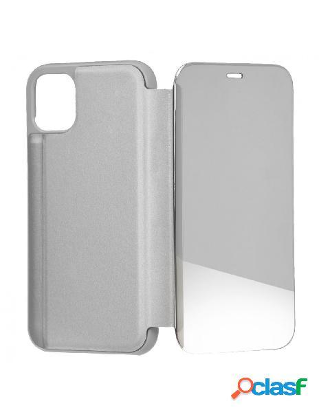 Funda libro Espejo Plata para iPhone 11