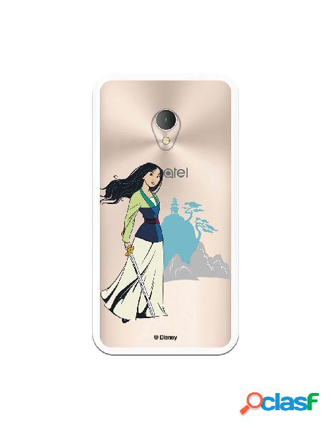 Funda para Alcatel U5 4G Oficial de Disney Mulan Templo -