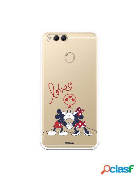 Funda para Huawei Honor 7X Oficial de Disney Mickey y Minnie