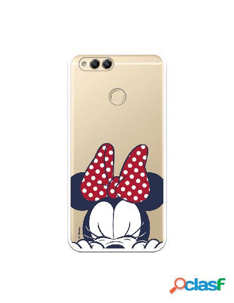 Funda para Huawei Honor 7X Oficial de Disney Minnie Cara -