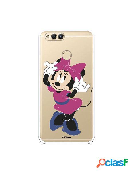 Funda para Huawei Honor 7X Oficial de Disney Minnie Rosa -